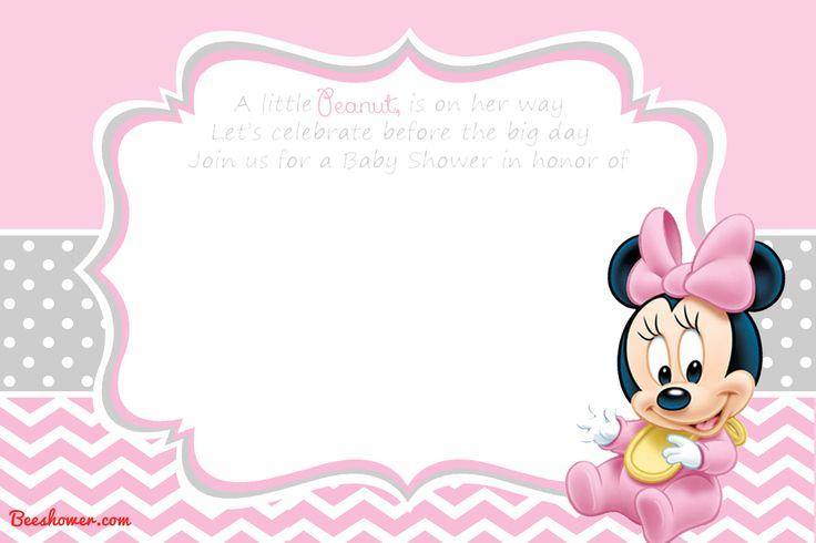 FREE Printable Disney Baby Shower Invitations | Drevio Invitations Design