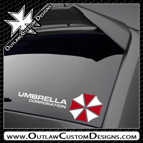 Resident Evil - Umbrella Corporation Logo And Name (2 Color) - Outlaw Custom Designs, LLC