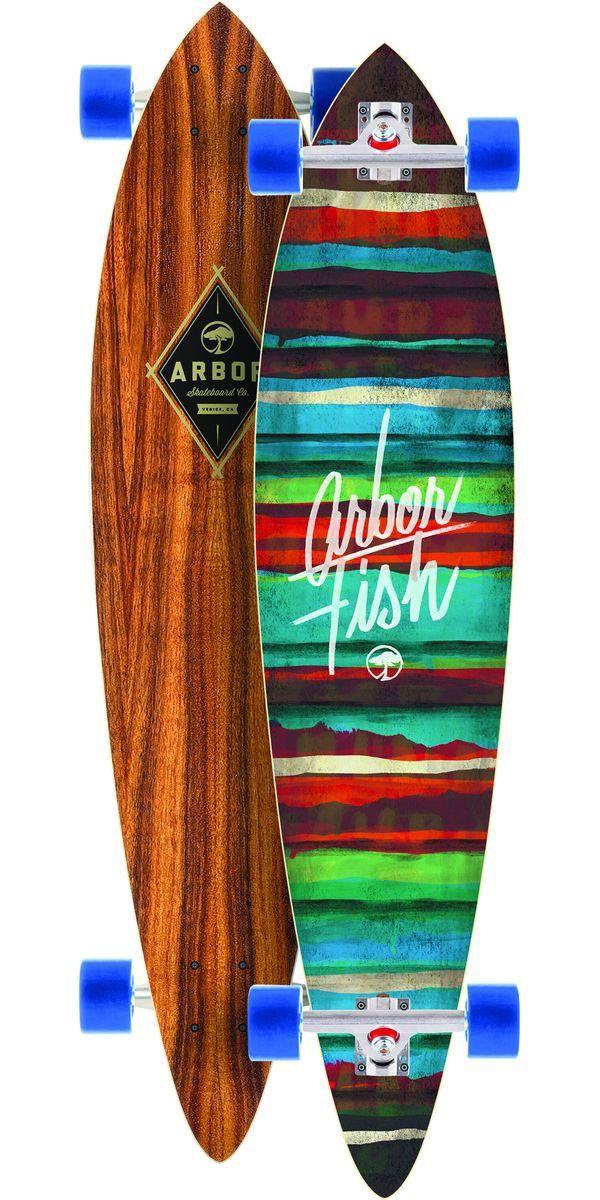 Arbor Fish Koa Longboard Skateboard Complete - 2014 The ...