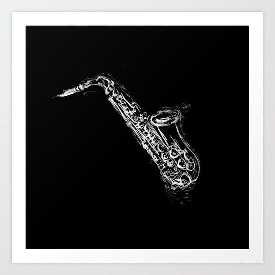 Alto Saxophone C-Melody Art Print by Artemasgaleria | Society6