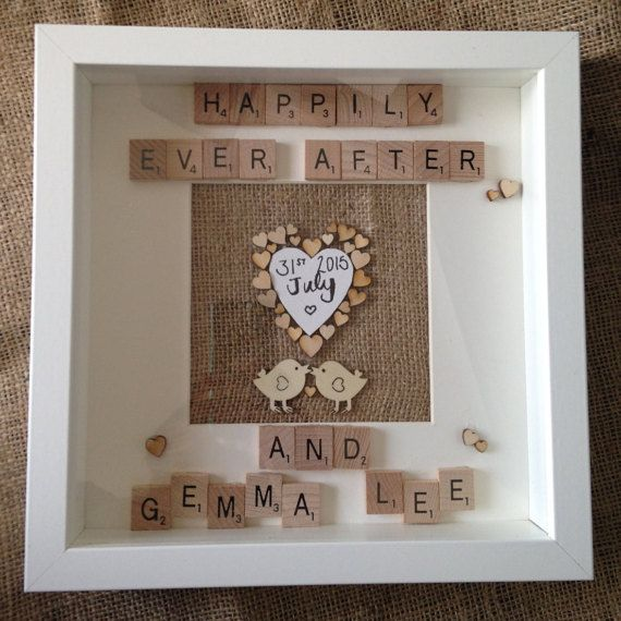 Beautiful personalised handmade frames for every occasion or theme. Birthdays, Anniversaries, Weddings, Christenings, Baby Showers, New Born Baby Gift, Thank you, Bridesmaid gift, Maid of Honour, Childrens Themes.  This frame makes the perfect wedding or anniversary gift. Frames can be changed to meet your requirements.  Frames measure 23x23cm.  Want a different design? Then contact us with the following details- 1. what you have in mind? 2. what message you would like it to include? 3…