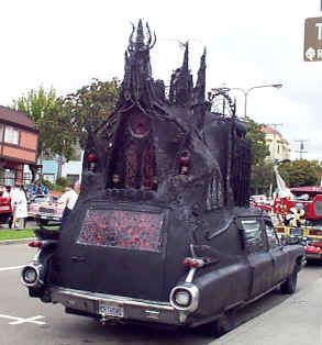 """1959 Caddy Hearse. So, this is one of those """"I'm not quite sure what the hell I'm looking at, but damn is it cool!"""" sort of things."""