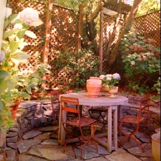 Ashbury Heights townhouse back garden, from Restoring a House in the City (excellent book - highly recommend)