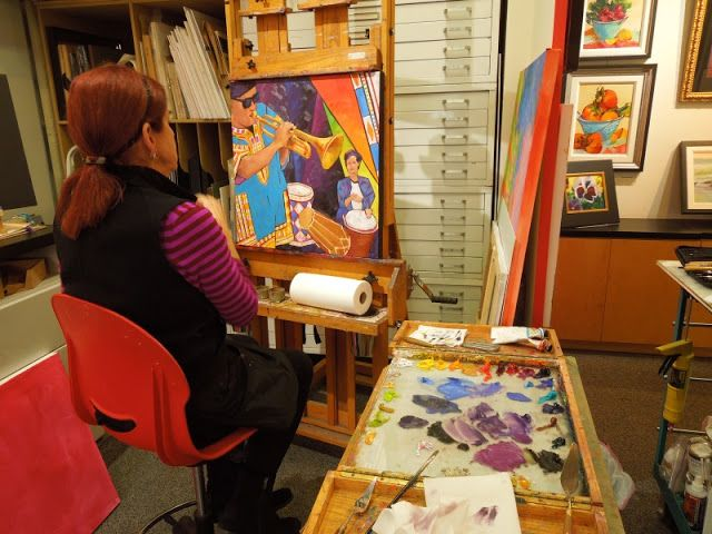 Capturing the Paso Robles Area with My Camera: January 2016 Anne Laddon contemplates how to complete this painting for the SoundScapes exhibit at Studios on the Park.