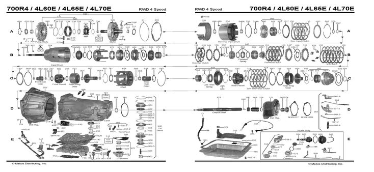 Diagram 4l60e Transmission Diagram Auto trans chart