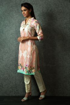 Linen digital print kurti from #Benzer #Benzerworld #Ethnicwear #Indowestern #kurti #palazzos