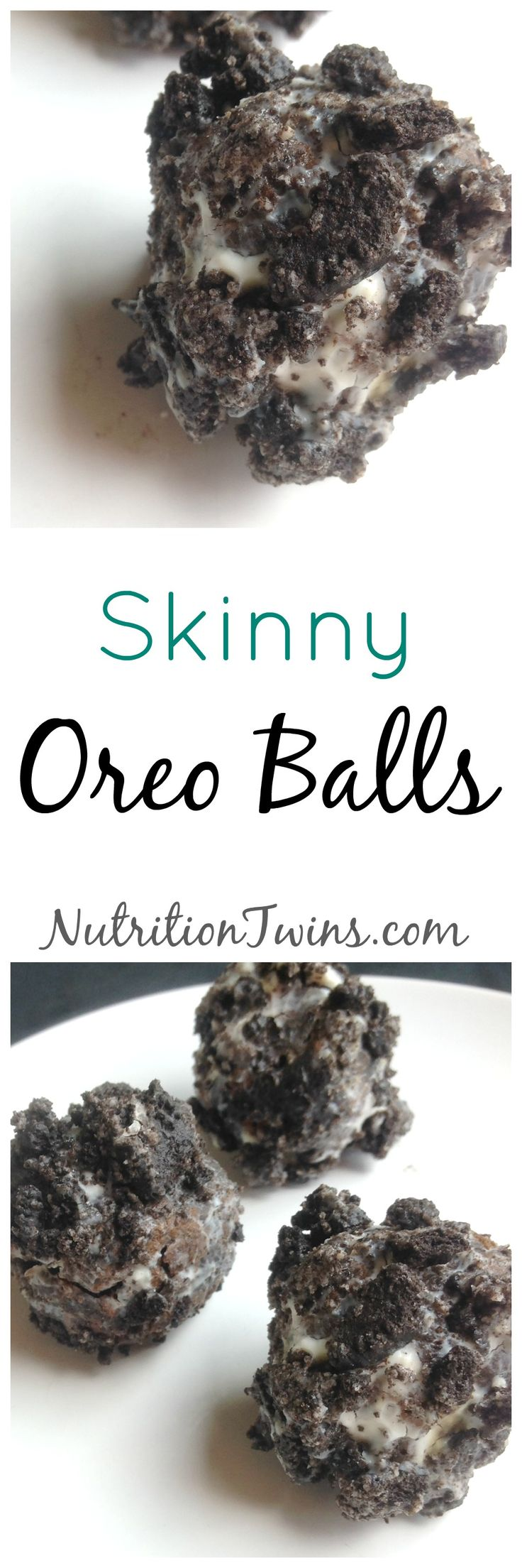 Skinny Oreo Balls | Only 50 Calories | Lightened up Way to get your sweet treat | For Nutrition & Fitness Tips & RECIPES like this please SIGN UP for our FREE NEWSLETTER www.NutritionTwins.com