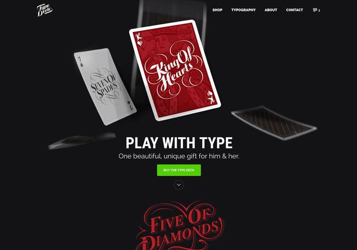 The Type Deck - Website of the Day - 23 December 2015 http://www.csswinner.com/details/the-type-deck/10089