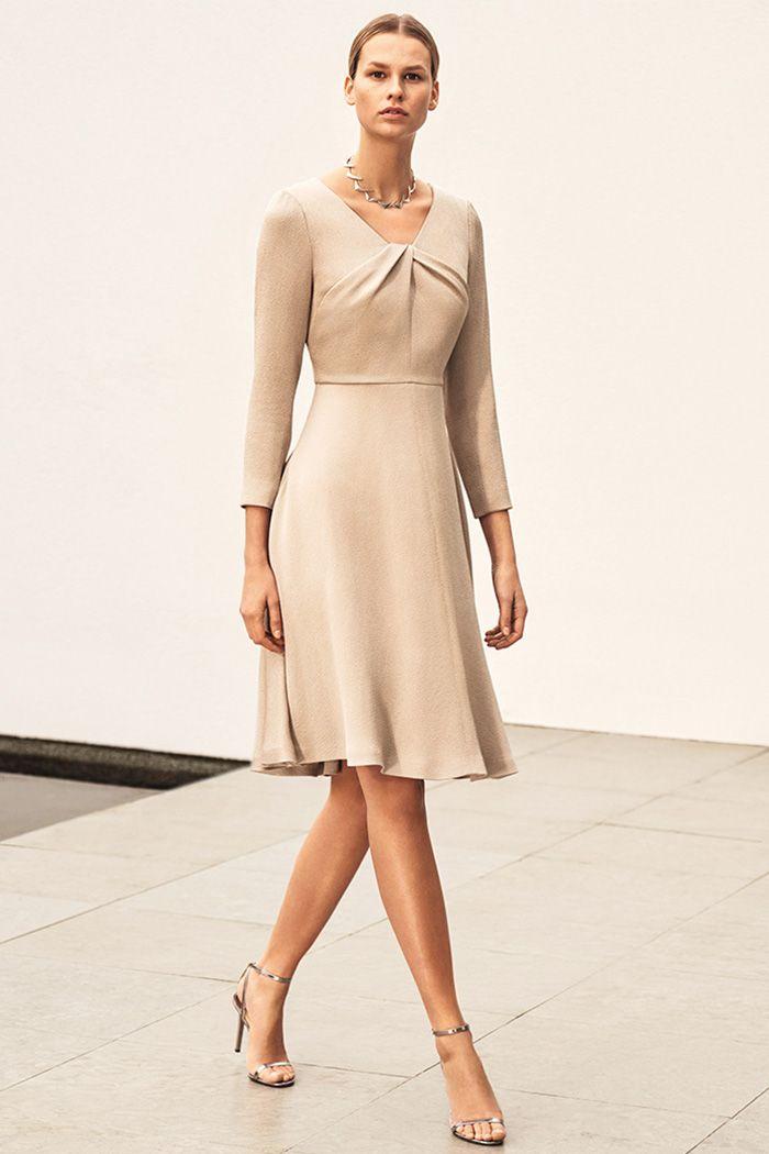 6c087b0ac Bellevue Dress Oyster Textured Satin | Unique Fashion Items ...