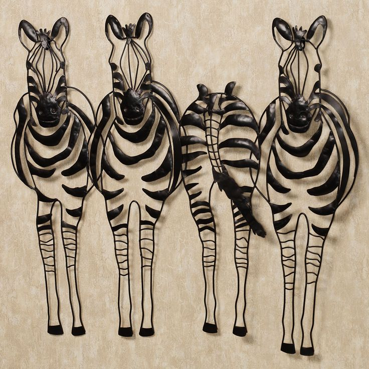 You Go Your Way Zebra Metal Wall Sculpture Art