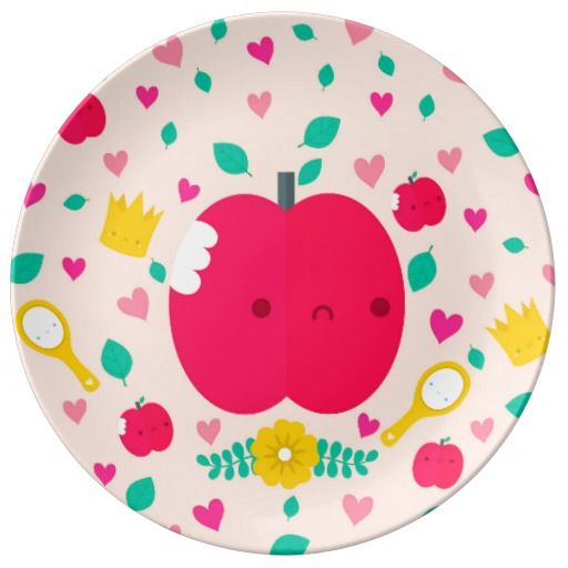 Croque la pomme - Assiette en porcelaine