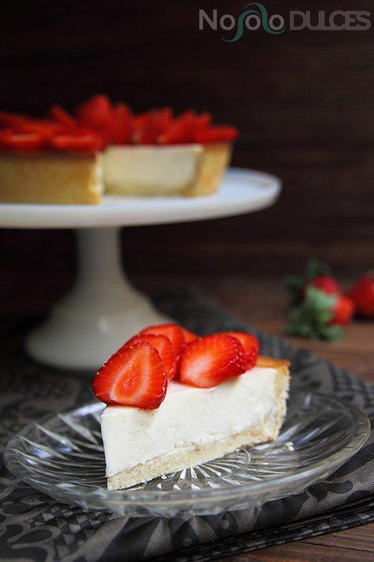 No solo dulces Tarta de fresas y queso mascarpone cheesecake strawberry french recipe