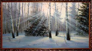 Раннее утро - Зимний пейзаж <- Картины маслом <- Картины - Каталог   Универсальный интернет-магазин подарков и сувениров