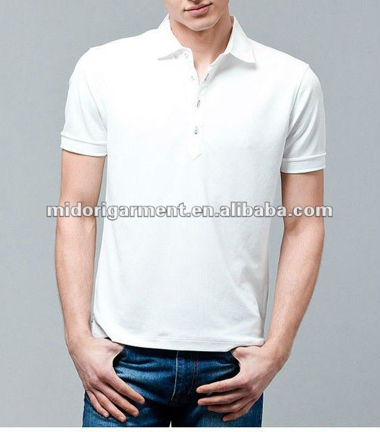 Slim-Fit men's white polo shirts Trendy design mens dry fit polo shirts  Young men's