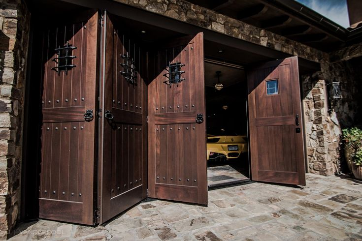 These One Of A Kind Castle Style Carriage Doors That Vault