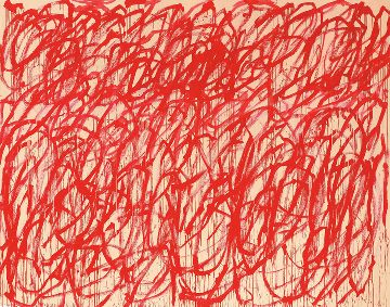 CY TWOMBLY, Bacchus, 2006–08, acrylic on canvas, 128 3/4 × 162 3/8 inches (327 × 412.5 cm), Cy Twombly Foundation Collection © Cy Twombly Foundation