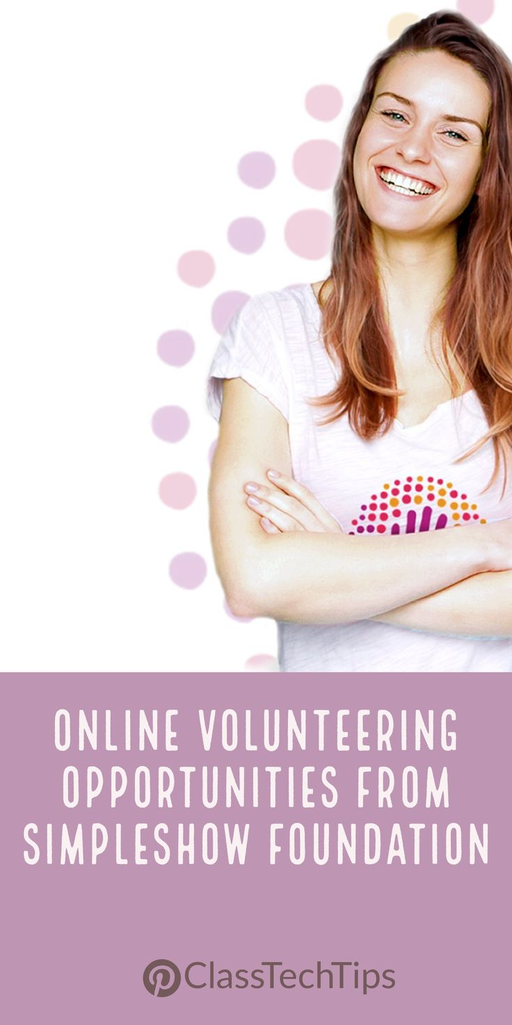 If you're looking to connect students with global content and connect them to authentic audiences, you'll definitely want to check out the simpleshow foundation's online volunteering opportunities. lesson plan, teacher websites, technology in education