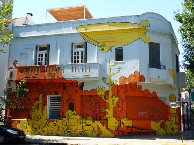 graffiti in hip palermo viejo. restaurant and shops galore!  (buenos aires) #travelcolorfully