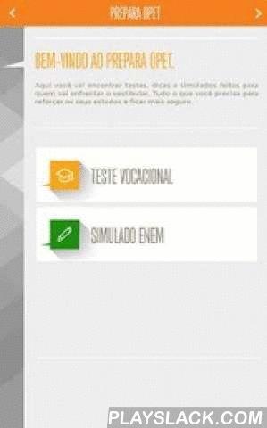Prepara Opet  Android App - playslack.com , Neste aplicativo você encontra:Simulado para o ENEM, para por em teste todos os seus conhecimentos antes da prova.Teste vocacional, para ajudar você na hora de escolher uma profissão.Dicas, para você mandar bem nas provas e simulados. Tudo gratuito e pensado para quem vai enfrentar o vestibular.Fácil e prático de usar.