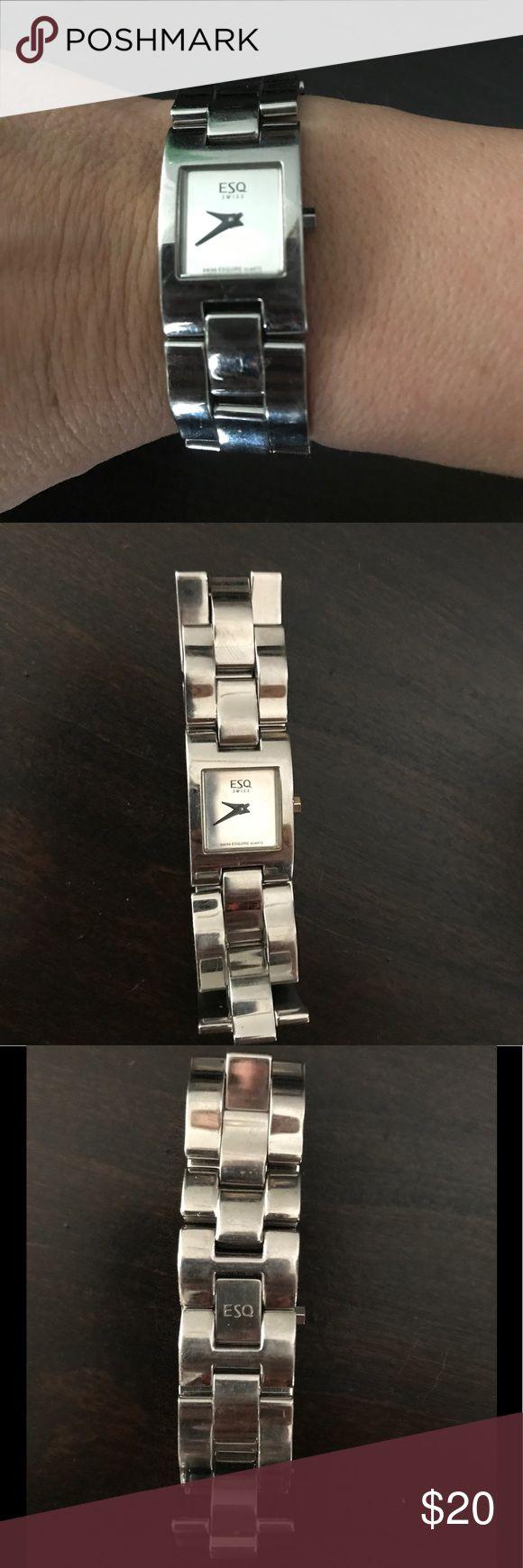 Silver elegant ESQ women's watch Dainty small women's silver ESQ watch. ESQ Accessories Watches