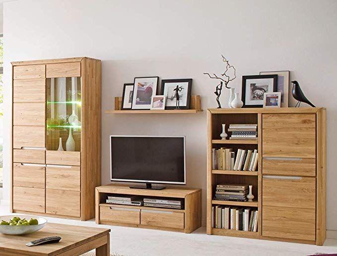 wohnwand pisa 22 eiche bianco massiv 4 teilig medienwand tv wand wohnzimmer tv