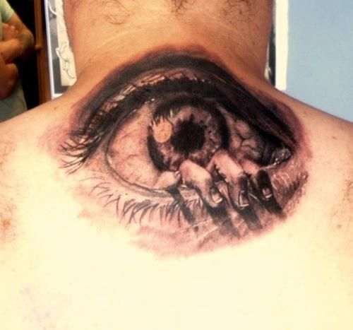 Hand Crawling Out Of An Eyeball Tattoo  #EyeballTattoos  #Eyeballs  #Tattoos