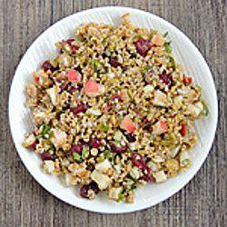 Whole Grain and Apple Salad HealthyAperture.com