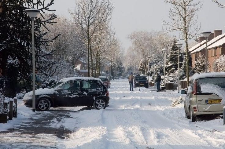 Deurne - Hellemanstraat in de sneeuw