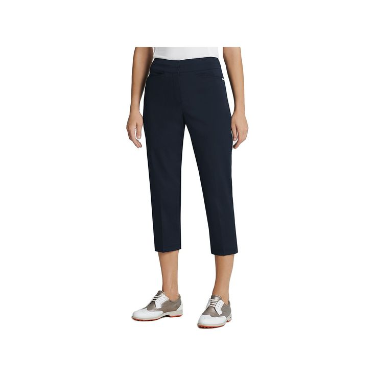 Women's Tail Classic Golf Capris, Size: 14, Blue (Navy)