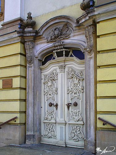 White Door at Wrocław, Poland... Look at the Stone Around...