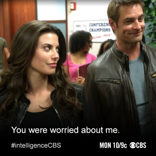 Intelligence tv show - Riley after Gabriel's rescue. Idiots at CBS for canceling the show after one season.