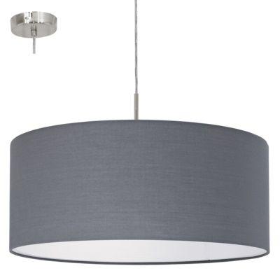 Lampa wisząca Eglo Pasteri 1x60W E27 fi53 szara 31577 hurtelektryczny.pl
