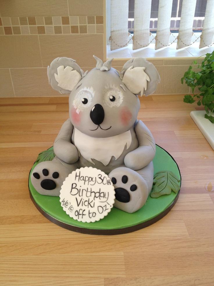 Koala Cake Animal Koala Pinterest Koalas And Cakes