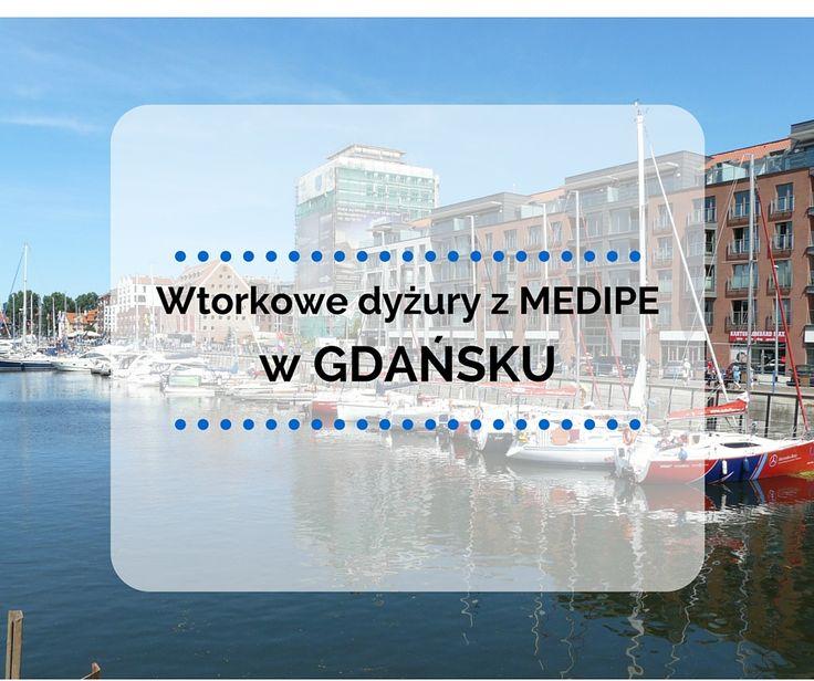 Od listopada można nas odwiedzić w każdy wtorek w godzinach 10:00 – 13:00 pod adresem: mBiuro, ul. Szafarnia 11 lok. F8, Gdańsk Kontakt telefoniczny: 58/ 712 84 00, e-mail: gdansk@medipe.com Zapraszamy!