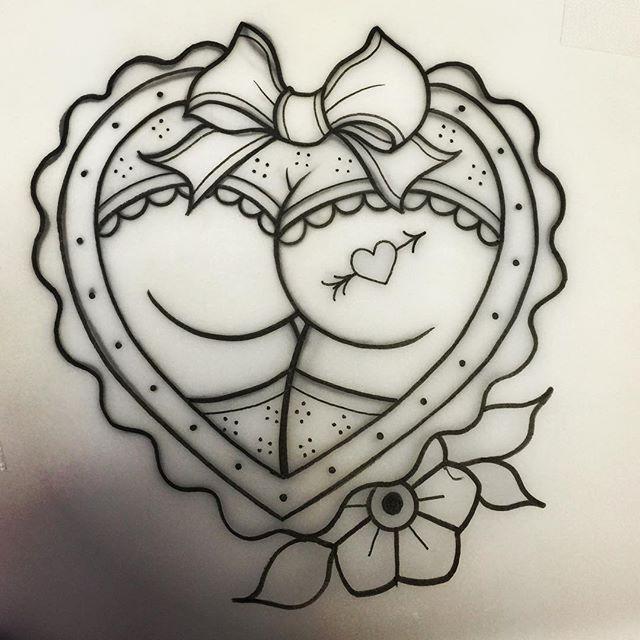 j00lie - Today's matching BFF tattoo! Can't wait ✨🍑 #butt #buttheart #yeg #yegtattoo