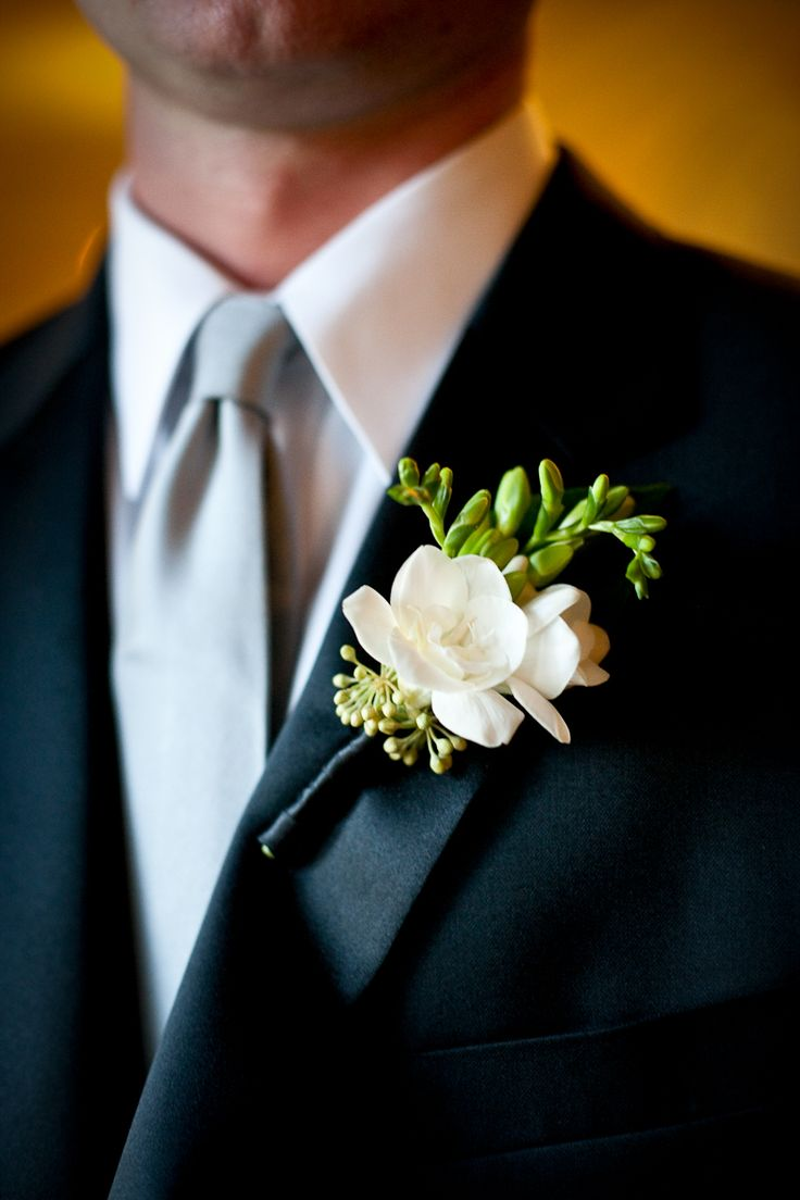 White-and-Green-Boutonniere