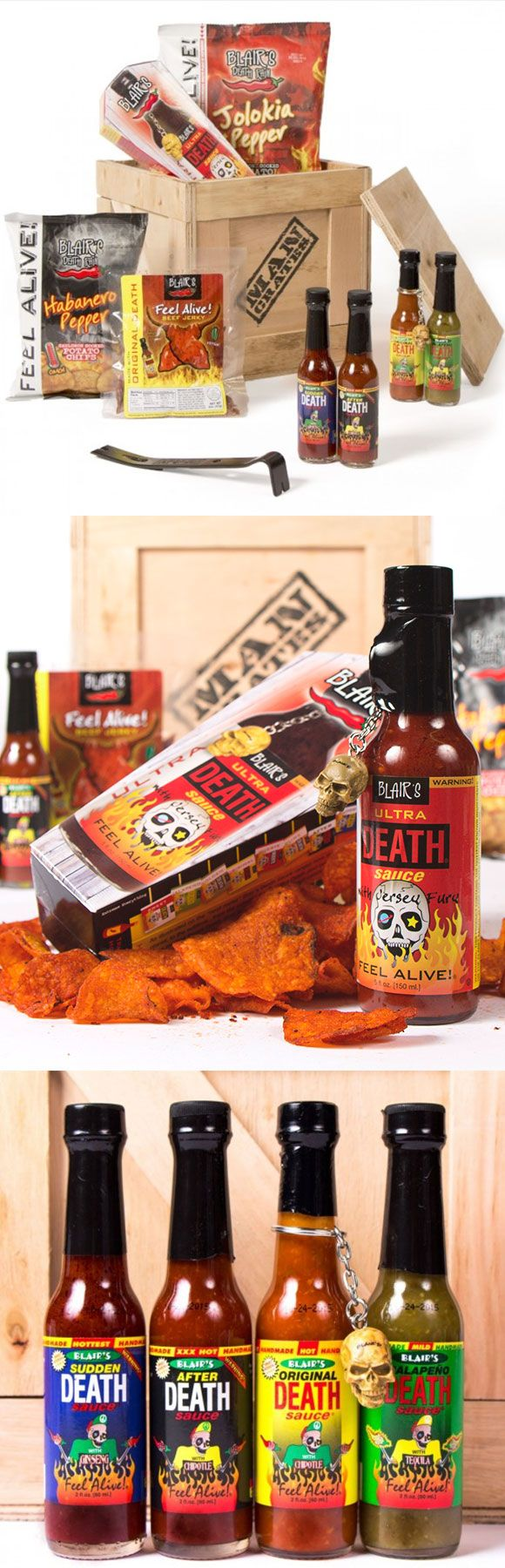 Saw these guys on the Today show! Spice things up this Valentine's with the Hot & Spicy Man Crate — watch your tough guy cry tears of joyous pain when tries the sauces. #ManCrates