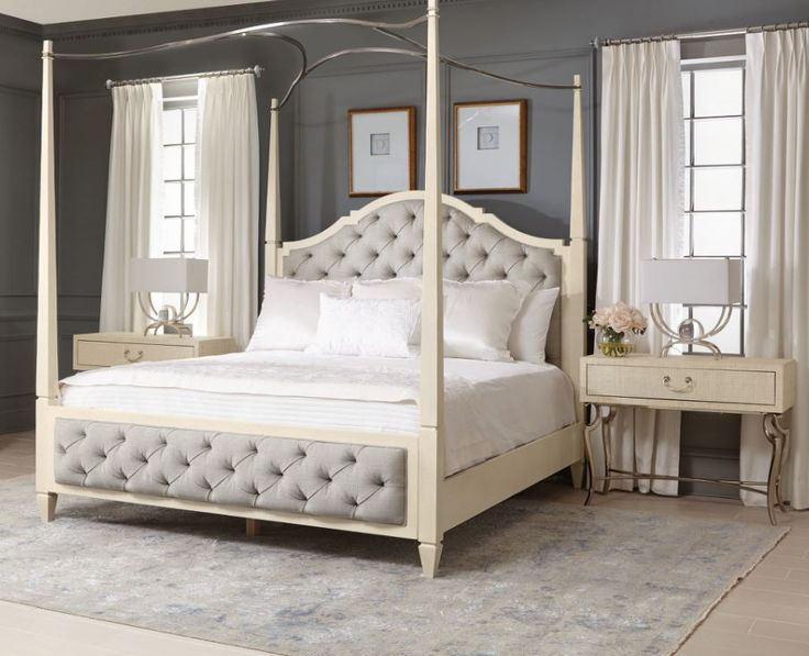 Savoy Place Upholstered Queen Poster Bed - Bernhardt