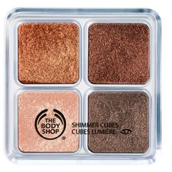 The Body Shop Shimmer Cubes Palette 06. Beautiful colors, all vegan. Only disappointing thing is the price- $22-- ouch.