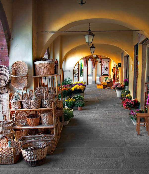 Market, Greve in Chianti,  Florence Tuscany ~ shopped here for groceries, etc. during our stay in Tuscany. Lovely little village square.