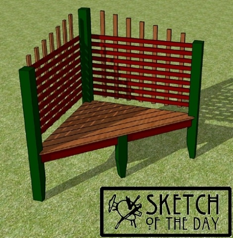Outdoor Corner Bench Chief 39 S Shop Sketch Of The Day Pinterest