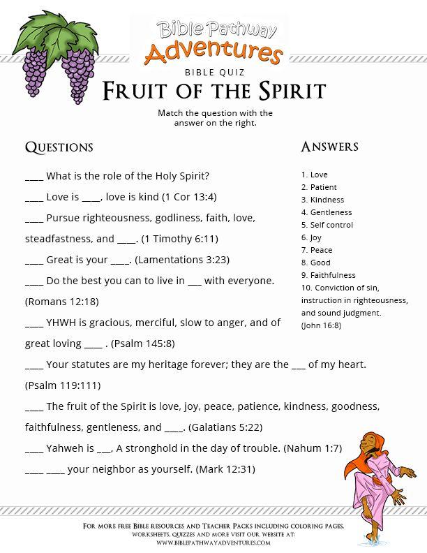 Fruit Of The Spirit Games