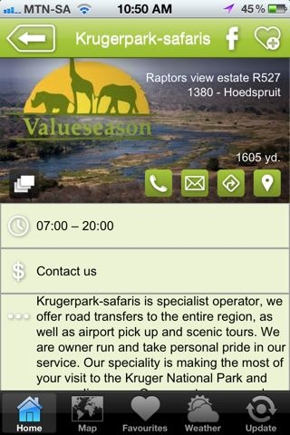 """Kruger Park Safaris is a hAPPy activity - a """"what to do"""" listing on the Hoedspruit Info App"""