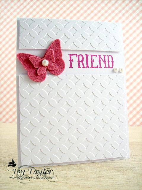 CREATED by Joy Taylor. INSPIRED by our Clean & Simple Card Making class. http://www.onlinecardclasses.com/cleansimple/