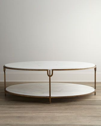 Expected to ship 8/10/15 Olivia Marble-Top Coffee Table by Global Views at Neiman Marcus.
