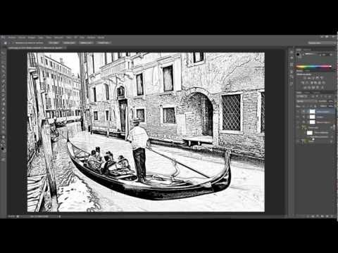 Tutorial photoshop. Fotografías a dibujo. - YouTube