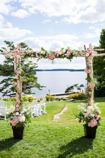 Krystyn   Matts Garden-Style Waterfront Wedding