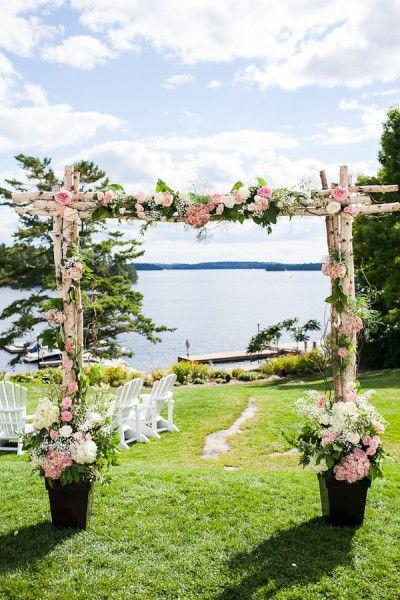 Garden-Style Waterfront Wedding