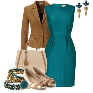 caramel and turquoise