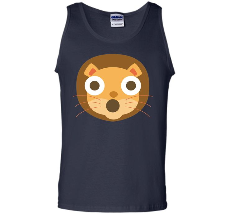 Funny Lion Emoji Shocked and Surprised Look T-Shirt